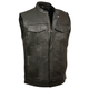 Milwaukee Leather Open Neck Zip/Snap Club Motorcycle Vest