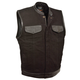 Milwaukee Leather Denim Club Style Leather Trim Motorcycle Vest