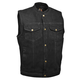 Milwaukee Leather Denim Snap Front Club Style Motorcycle Vest