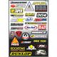 Factory Effex Sponsor Sticker Kit D-3