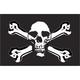 Tusk Skull and Cross Bones Replacement Flag
