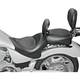 Mustang Wide Touring Vintage Motorcycle Seat With Driver Backrest