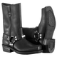 River Road Traditional Square Toe Harness Motorcycle Boots