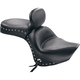 Mustang Wide Touring Studded Seat with Driver's Backrest