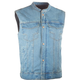 Highway 21 Iron Sights Club Collar Denim Vest