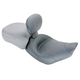 Mustang Wide Solo Smooth Motorcycle Seat with Removable Backrest