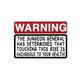 Hot Leathers Helmet Sticker - Warning