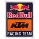 KTM Red Bull Racing Team Metal Sign
