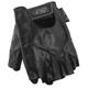 Power-Trip Graphite Half Finger Motorcycle Gloves