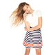 MILLY MINIS NAUTICAL STRIPES KATIE SKIRT