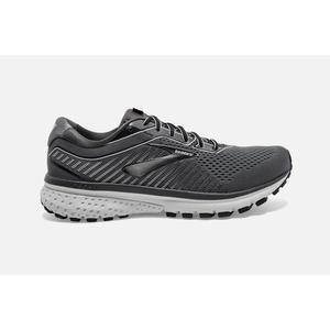 B 9.5 Black//Lime//Blue Grass Brooks Mens Ghost 12 Running Shoe