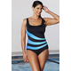 Aquabelle Xtra Life Lycra Ombre Spliced Sport Swimsuit