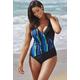 Beach Belle Wavelengths Surplice Swimsuit