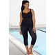 Lycra Xtra Life Black Side-Tie Capri Set