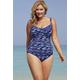Shore Club Coastlines Twist-Front Swimsuit