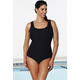 Chlorine Resistant Black Textured Swimsuit