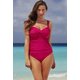 Raspberry Twist-Front Swimsuit