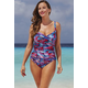 Shore Club Crayons Twist-Front Swimsuit