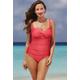 Melon Twist-Front Swimsuit