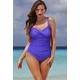 Blue Violet Twist-Front Swimsuit