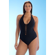 Ashley Graham x swimsuitsforall Secret Agent Black Swimsuit