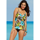 Shore Club Sea Hibiscus Tie-Front Tankini