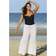 White Wave Knit Beach Pant