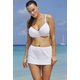 Jessica Simpson White Seashells Underwire Skirtini