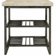 Travertine End Table