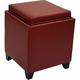 Rainbow Leather Flip-Top Storage Ottoman
