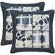 Dip-Dye Patch Throw Pillows: Set 2