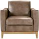 Jason Furniture (kuka Home) Berkley Leather Chair Latte