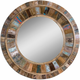 Jeremiah Round Wood Wall Mirror