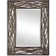 Dorigrass Brown Metal Wall Mirror