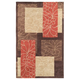 Aden Orange and Brown Area Rug, 5' x 8'