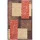 Aden Orange and Brown Area Rug, 8' x 11'