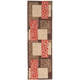 Aden Orange and Brown Runner Rug, 2'6 x 8'