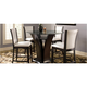 Venice 5-pc. 54 Glass Counter-Height Dining Set