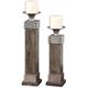 Lican Wood Candleholders: Set of 2