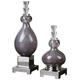 Charoite Glass Bottles: Set of 2