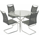 Nico 5-pc. Glass Dining Set