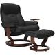Stressless Senator Large Reclining Chair & Ottoman w/ Swing Table