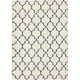 Emmerson Ivory and Blue Area Rug, 5'3 x 7'5
