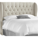 Thayer Queen Tufted Wingback Headboard