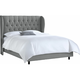 Thayer Queen Tufted Wingback Bed