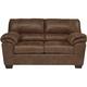 Livingston Leather-Look Loveseat