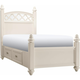 Paris Twin 2-sd. Storage Platform Bed