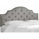 Skyline Amara Full Headboard Linen Gray L: 4.00 W: 56.00 H: 54.00