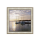 Sailboats at Dusk Framed Canvas Wall Art