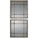 Saragano Square Wall Mirrors: Set of 2